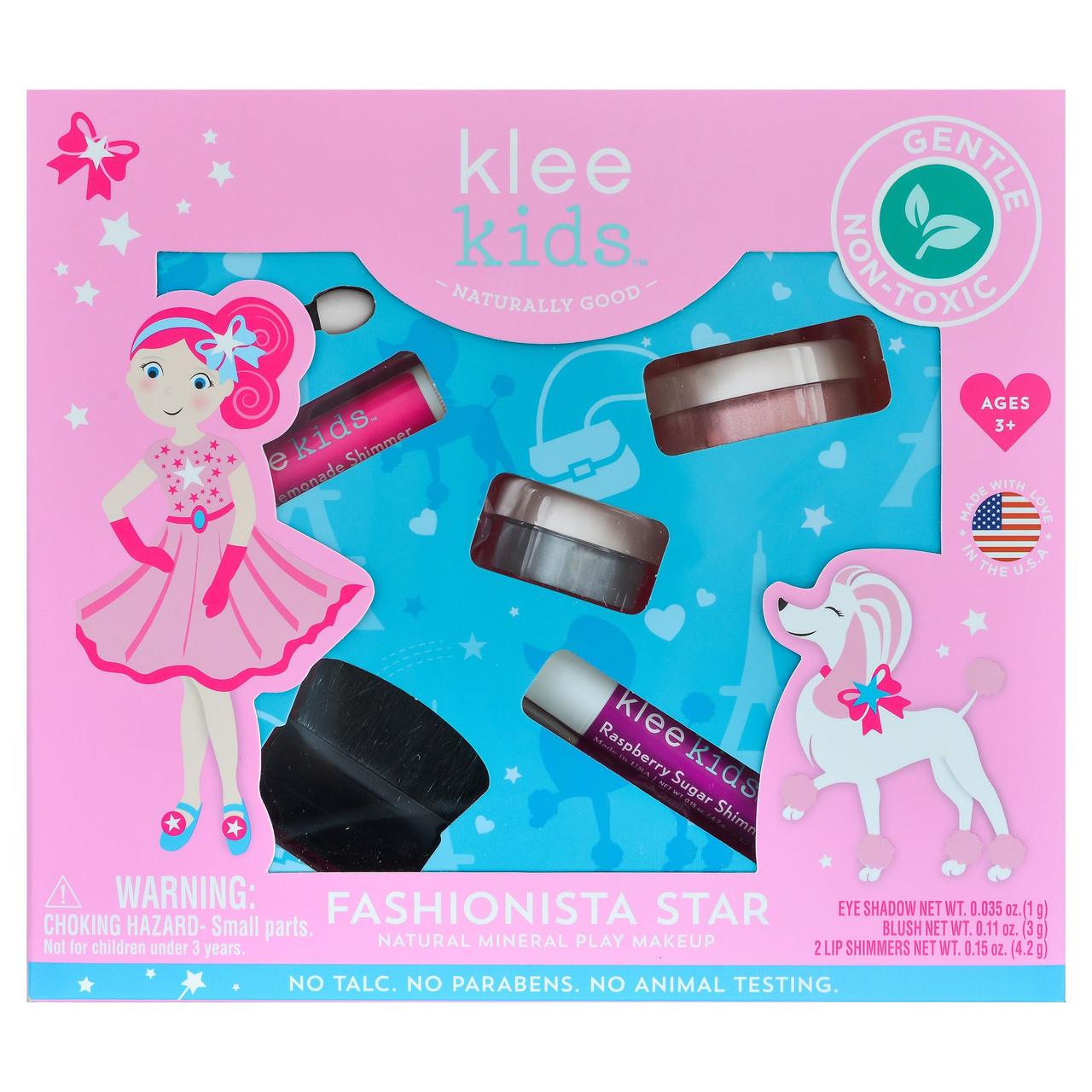 311128fb7d Klee Kids Fashionista Star Natural Mineral Play Makeup Kit