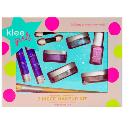 Luna Star Klee Girls Natural Mineral 7 Piece Makeup Kit - Up and Away
