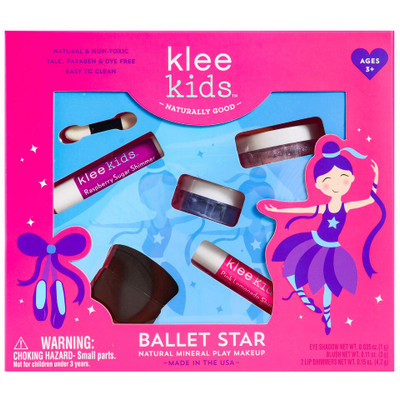 Luna Star All-Natural Mineral 4 Piece Makeup Play Kit - Ballet Star