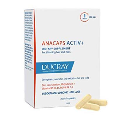 Ducray Anacaps Activ+ Dietary Supplement - 30 capsules