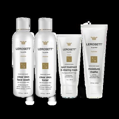 Lerosett Botanical Clear Skin Kit - 4 Part