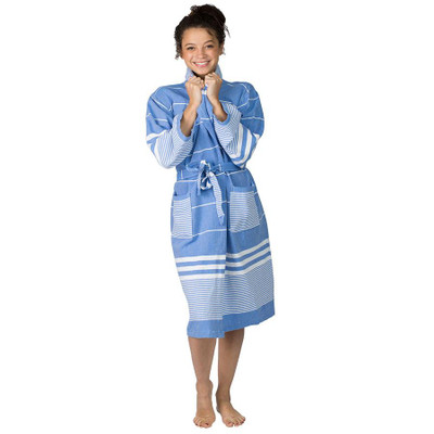 The Active Towel - Aegean Cotton Robe - Sky Blue