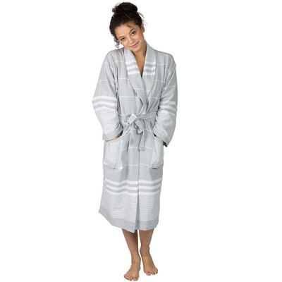 The Active Towel - Aegean Cotton Robe - Gray