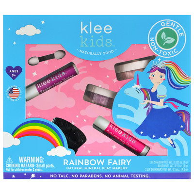 Klee Kids Rainbow Fairy Natural Mineral Play Makeup Kit