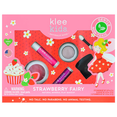Klee Kids Strawberry Fairy Natural Mineral Play Makeup Kit