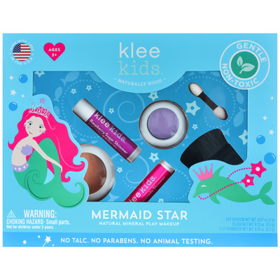Klee Kids Mermaid Star Natural Mineral Play Makeup Kit