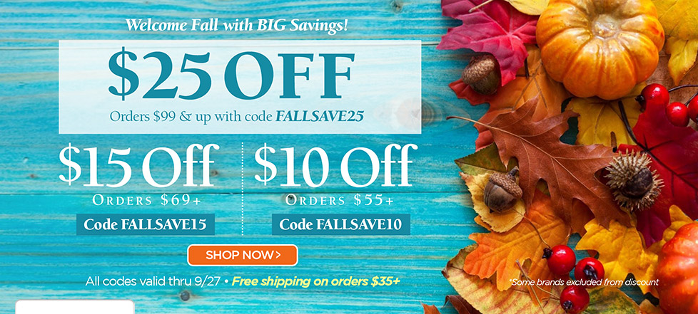 Fall Into These Savings!