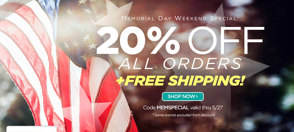 Memorial Day Savings Are Here!