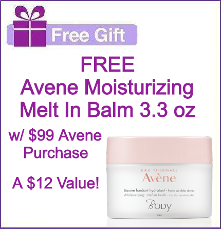 FREE Avene 3.3 oz Moisturizing Melt In Balm