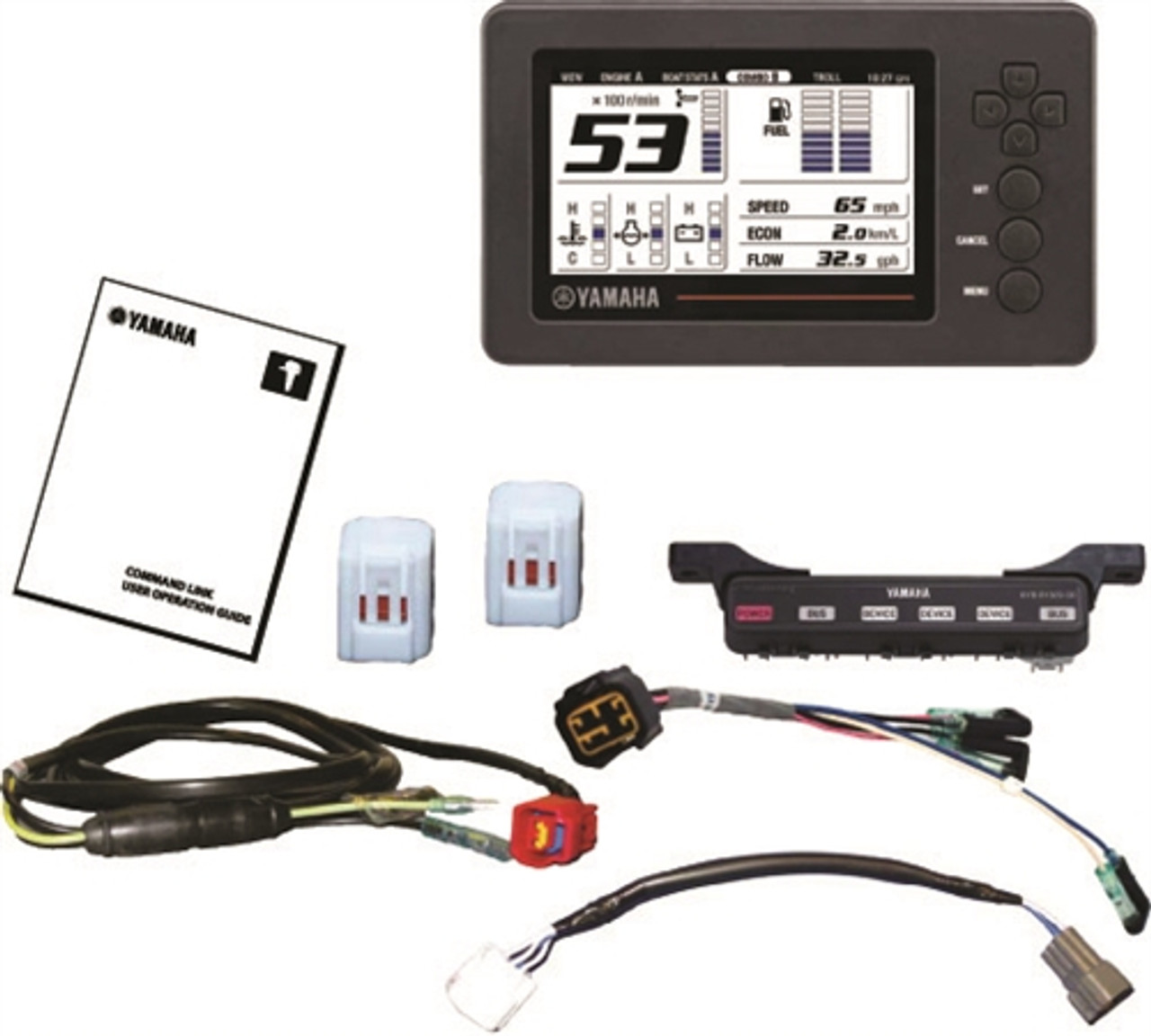 Command Link Plus® DEC KIT - Single/Twin Engine Kit WITH 1 Information  Station Display | Twin Engine Yamaha Wiring |  | SIM YAMAHA