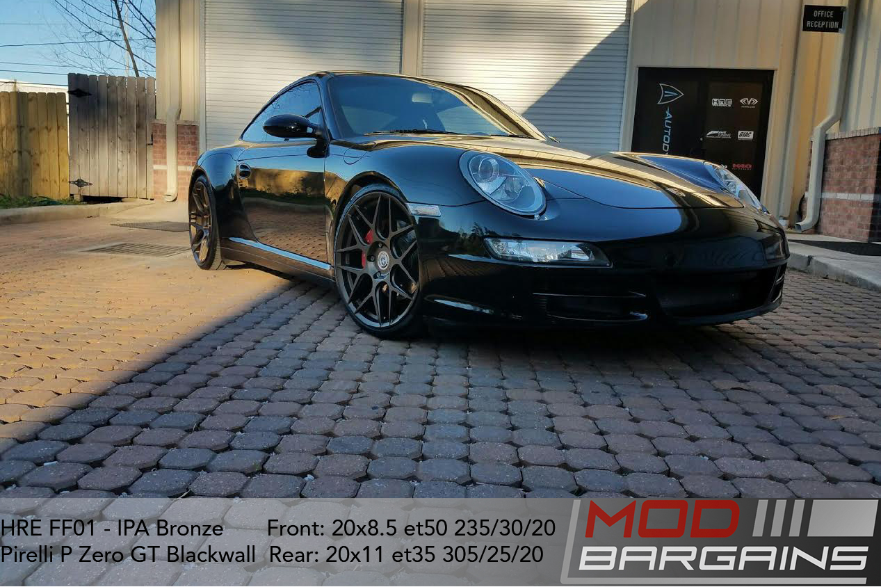 HRE FF01 IPA Bronze on Porsche 997 Carrera 4S