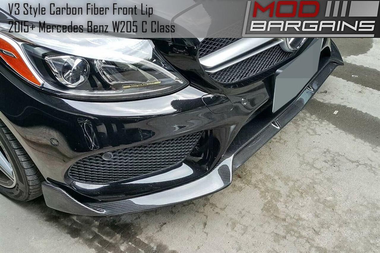 C-Sport Sedan AMG Bumper Carbon Fiber Rear Add-On Splitter Lip M BENZ W205 2015