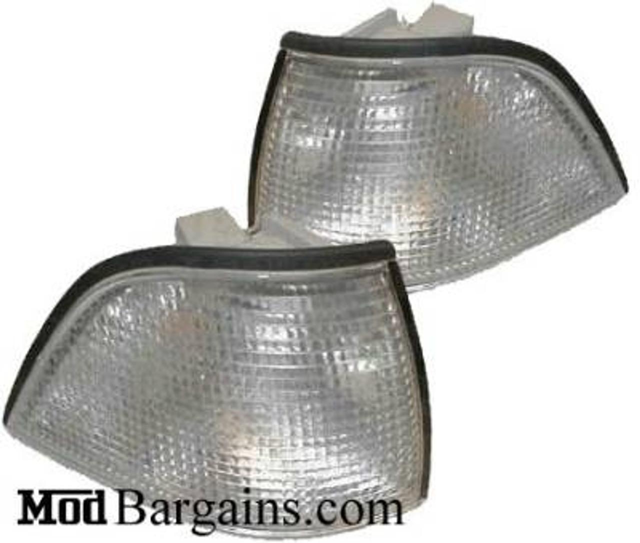 BMW 3 Series E36 Wagon Sedan Corner Lights Turn Signals DEPO Clear 1991-1998