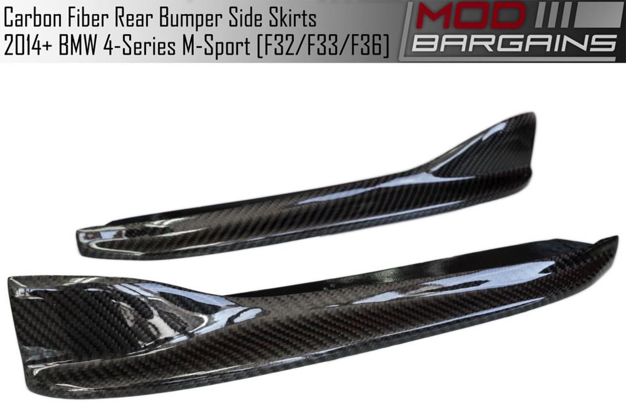 Carbon Fiber P Rear Bumper Side Extensions for BMW F32 F33 F36 4-Series M Sport