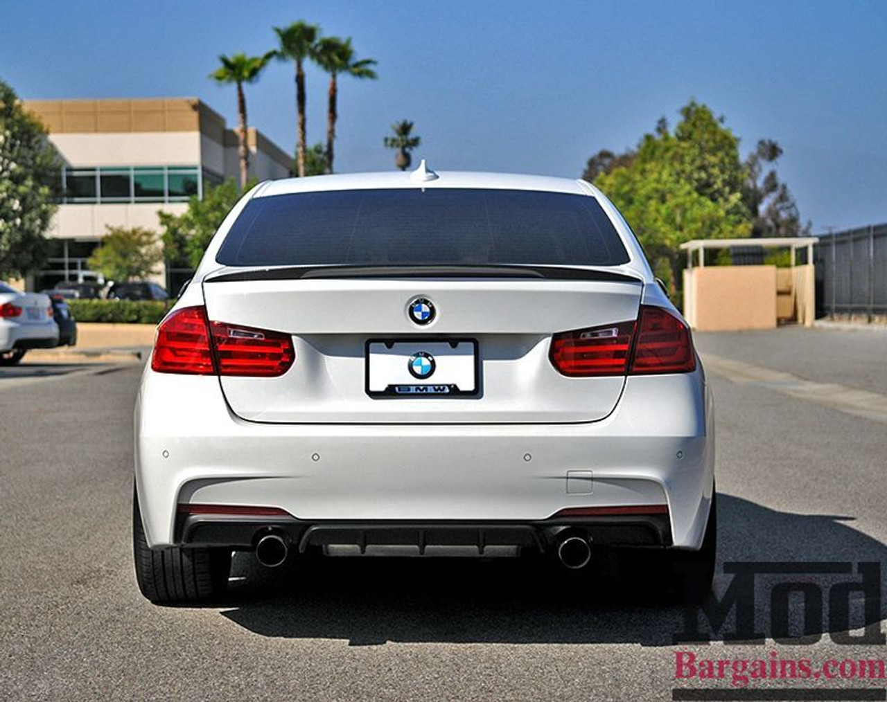 Carbon Fiber Rear Diffuser For 2011 17 Bmw 328i 335i M Sport F30 Performance Style Dual