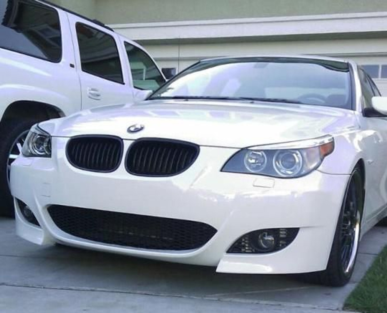 M5 Style Front Bumper W Fog Lights For 2004 10 Bmw 5 Series E60