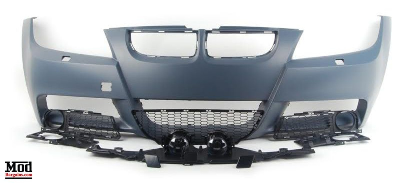 M Sport Mtech Front Bumper For 2006 12 Bmw 3 Series Sedan E90 Pre Lci Lci