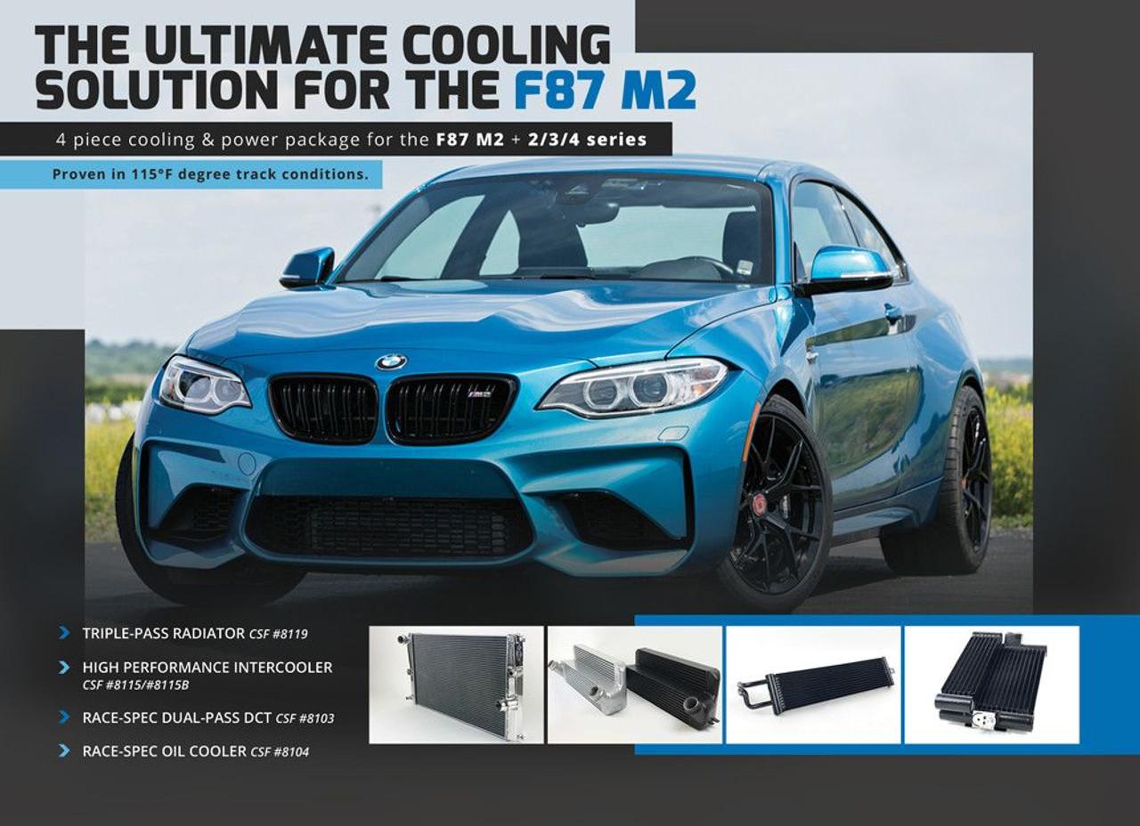 CSF radiatori ad alte prestazioni INTERCOOLER ARGENTO per BMW F30//F32//F22//F87 N55