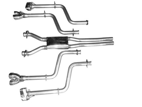 Solo Performance Mach X Cat Back Exhaust for 2008-15 Dodge