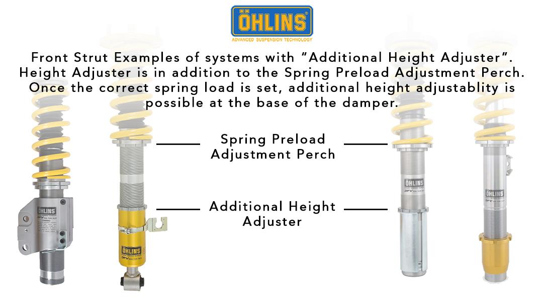 Ohlins Additional Height Adjuster Front