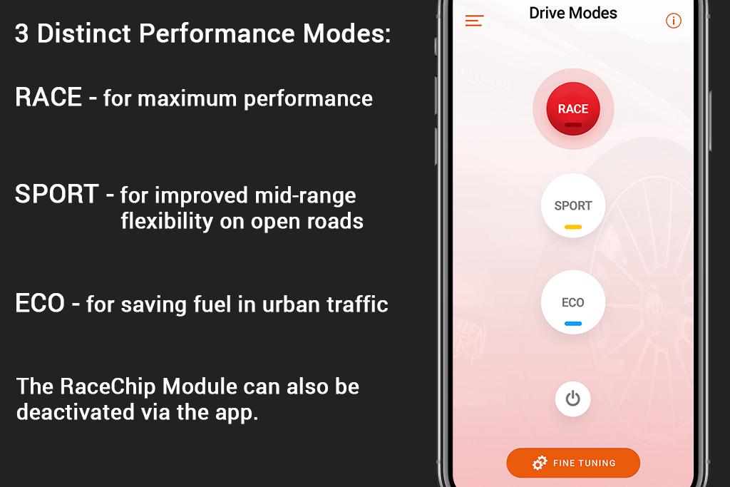 RaceChip Mobile App Modes