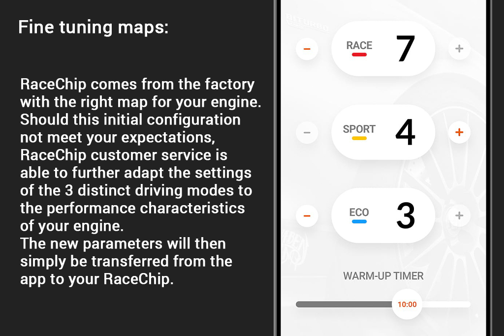 RaceChip Mobile App Fine Tuning
