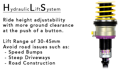 KW HLS Hydraulic Lift System Coilovers Info