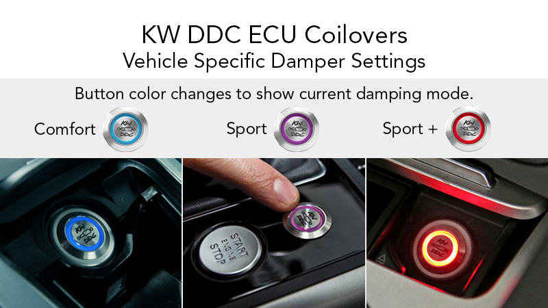 KW DDC (Dynamic Damping Control) ECU (Electronic Control Unit) Button - Comfort, Sport, and Sport+