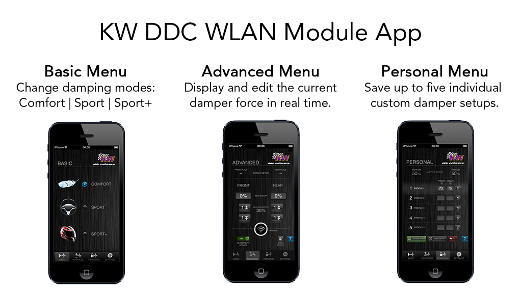 KW DDC App available with the KW DDC WLAN module
