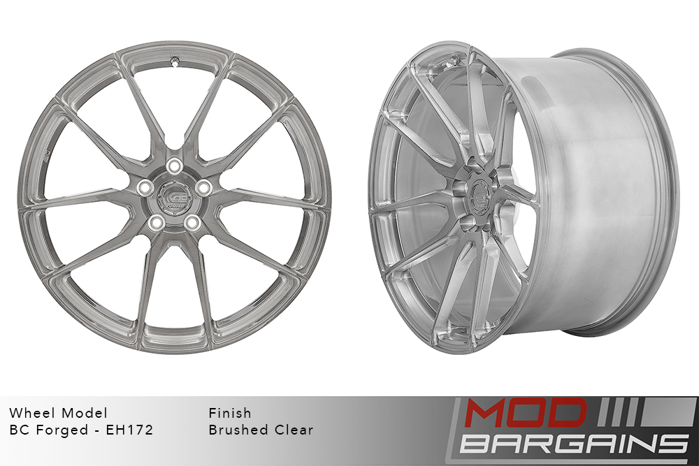 BC Forged EH172 Monoblock Forged Aluminum Directional 10 Spoke Concave Wheels Brushed Black Modbargains