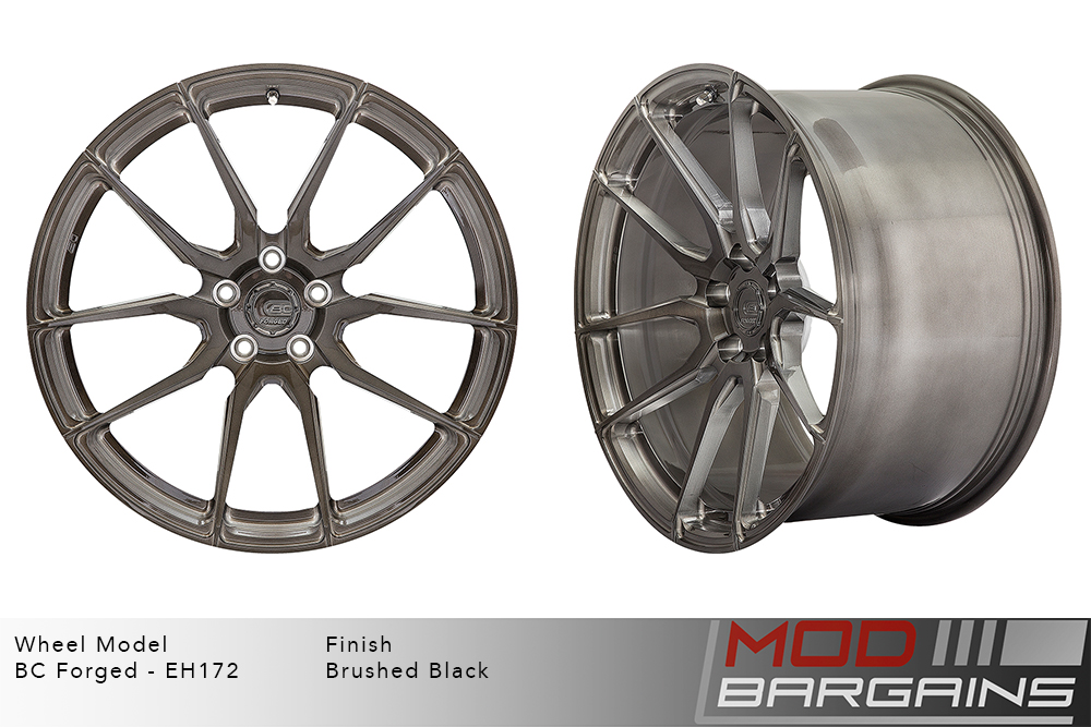 BC Forged EH172 Monoblock Forged Aluminum Directional 10 Spoke Concave Wheels Brushed Clear Silver Modbargains