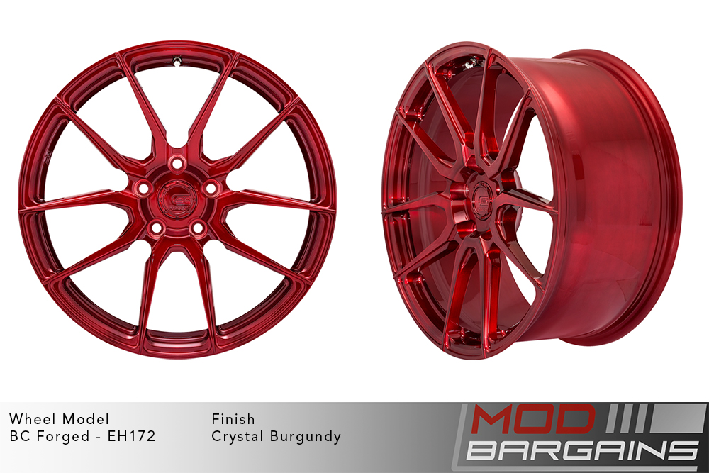 BC Forged EH172 Monoblock Forged Aluminum Directional 10 Spoke Concave Wheels Matte Black Modbargains