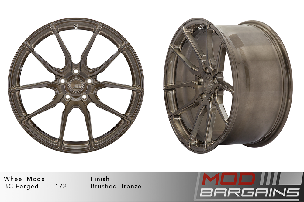 BC Forged EH172 Monoblock Forged Aluminum Directional 10 Spoke Concave Wheels Brushed Red Crystal Burgundy Modbargains