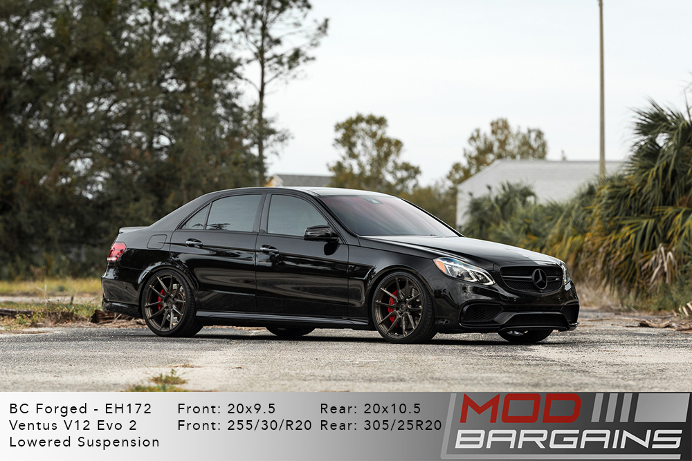 Mercedes E63 AMG S Black BC Forged EH172 Bronze Wheels Modbargains