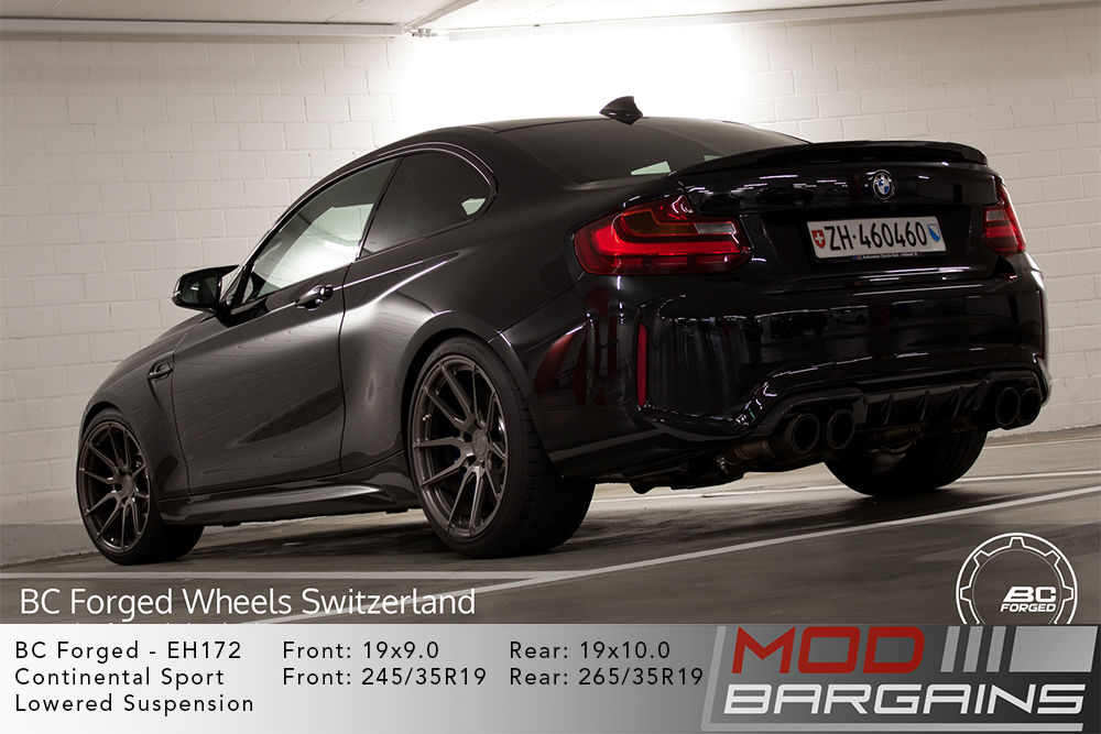 BMW F87 M2 Black Widebody BC Forged EH172 Gunmetal Wheels Modbargains