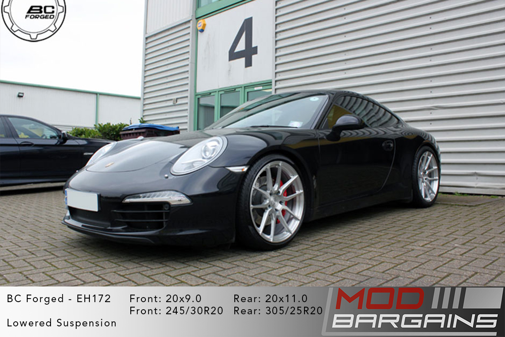Porsche 991 911 Carrera BC Forged EH172 Silver Wheels Modbargains