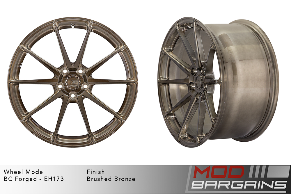 BC Forged EH173 Monoblock Forged Aluminum 10 Spoke Concave Wheels Brushed Bronze Modbargains