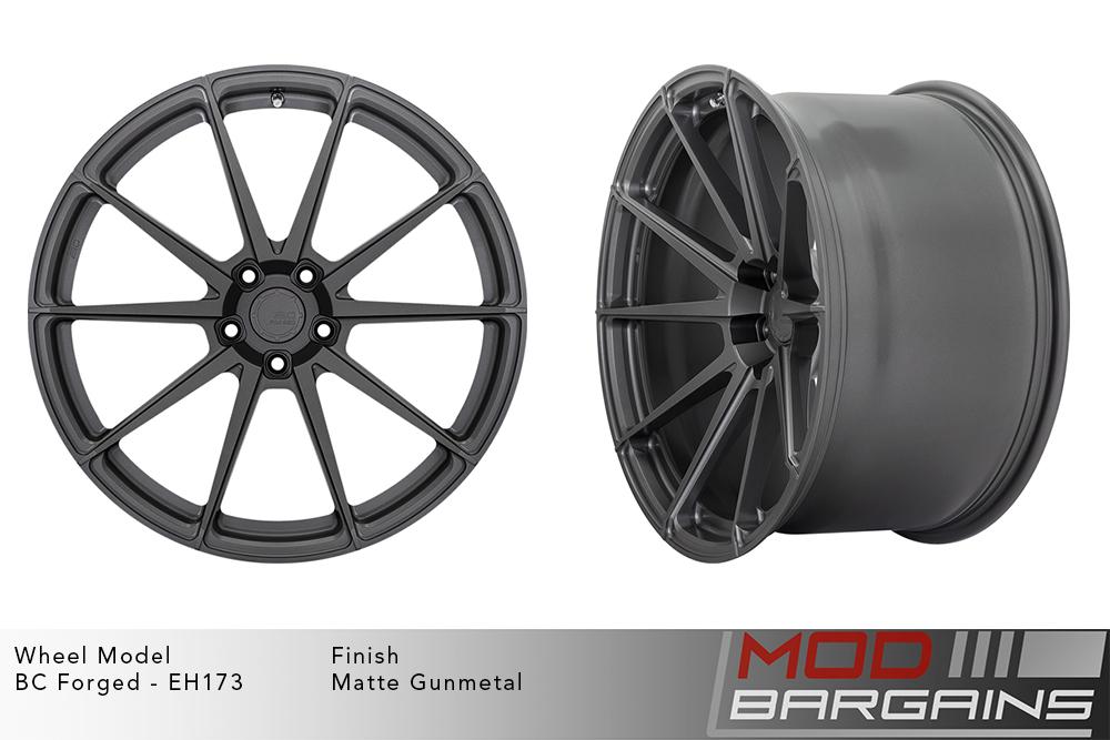 BC Forged EH173 Monoblock Forged Aluminum 10 Spoke Concave Wheels Matte Gunmetal Modbargains