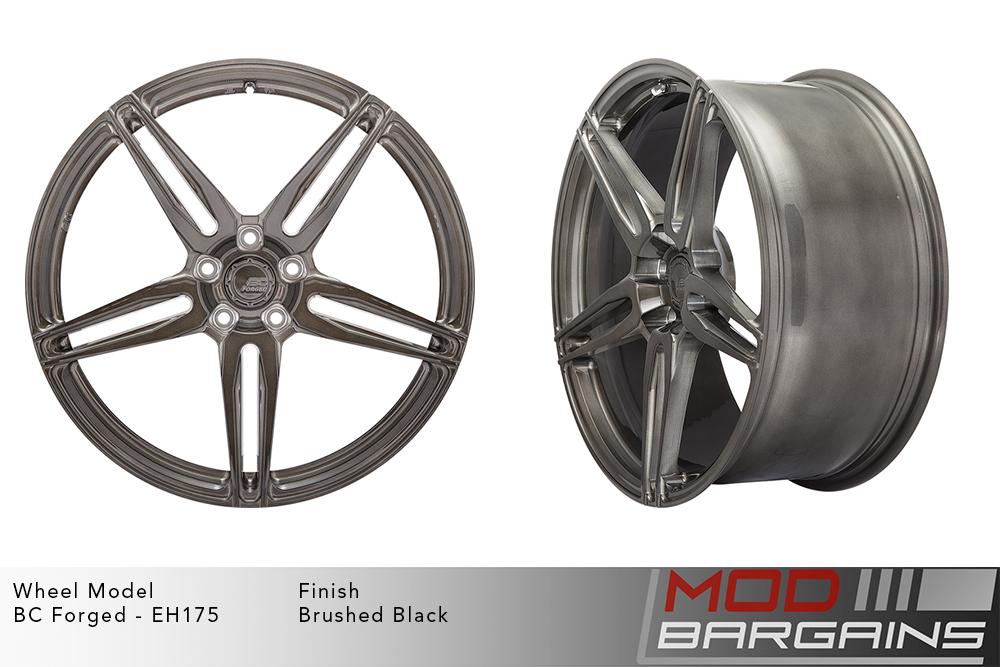 BC Forged EH175 Monoblock Forged Aluminum Split 5 Spoke Concave Wheels Brushed Black Gunmetal Modbargains