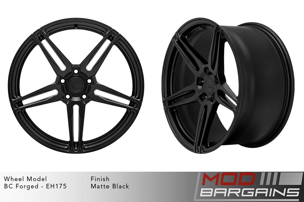BC Forged EH175 Monoblock Forged Aluminum Split 5 Spoke Concave Wheels Matte Black Modbargains