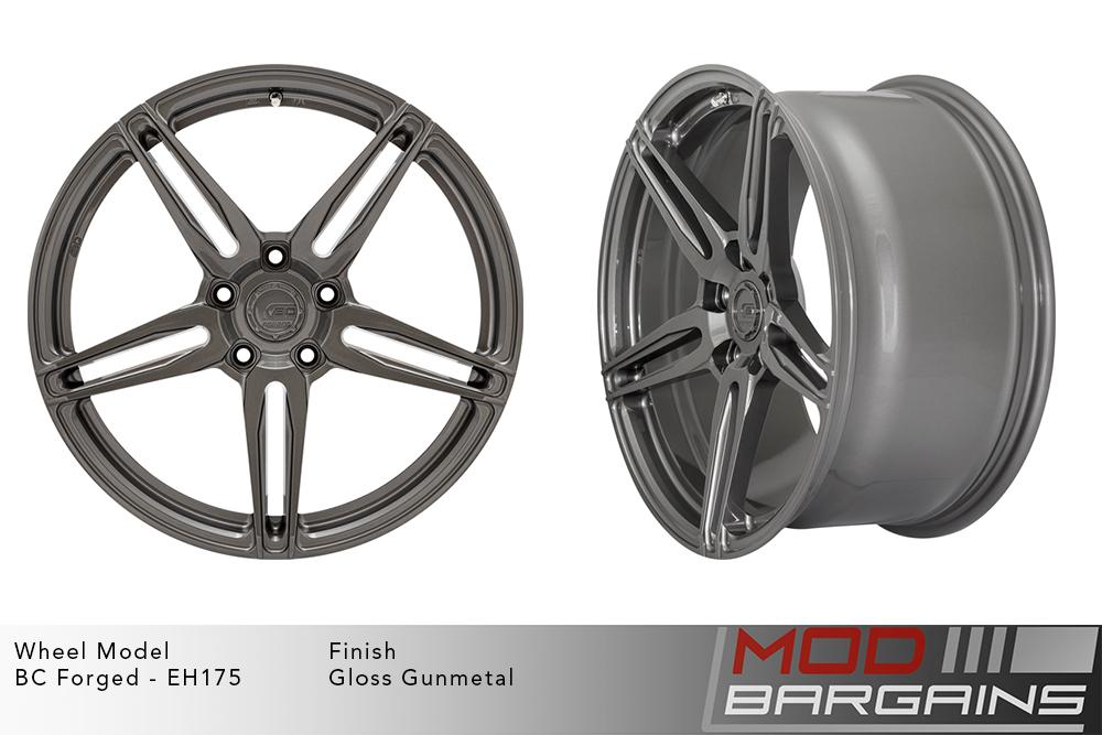 BC Forged EH175 Monoblock Forged Aluminum Split 5 Spoke Concave Wheels Gloss Gunmetal Modbargains