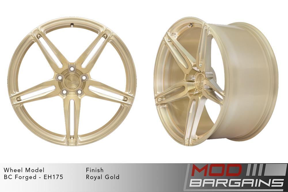 BC Forged EH175 Monoblock Forged Aluminum Split 5 Spoke Concave Wheels Brushed Royal Gold Modbargains
