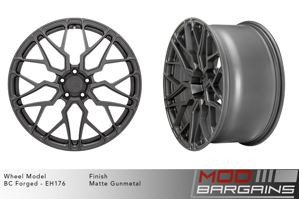 BC Forged EH176 Monoblock Forged Aluminum Multi-Mesh Concave Wheels Matte Gunmetal Modbargains