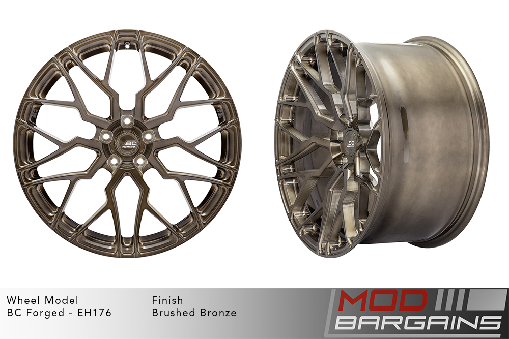 BC Forged EH176 Monoblock Forged Aluminum Multi-Mesh Concave Wheels Brushed Bronze Modbargains
