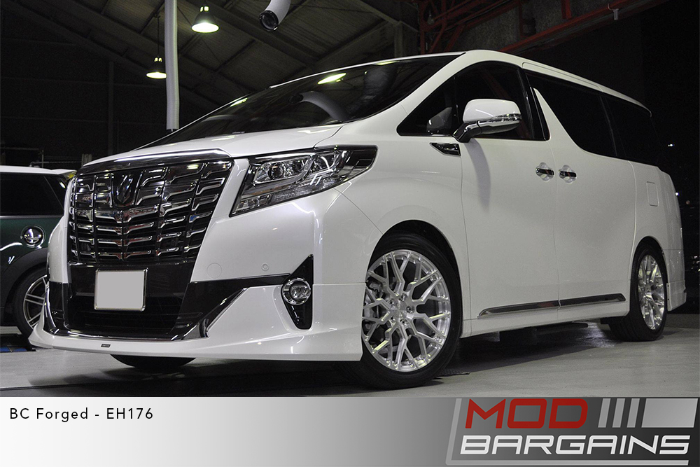 Toyota Alphard Van White BC Forged EH176 Silver Wheels Modbargains