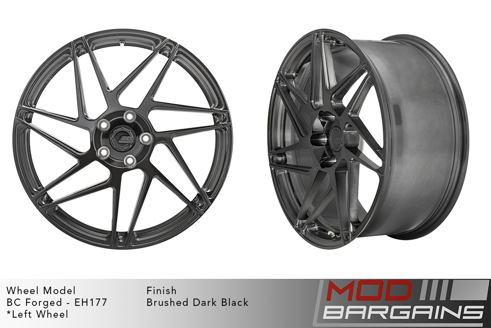 BC Forged EH177 Monoblock Forged Aluminum Directional Split 7 Spoke Concave Wheels Brushed Dark Black Gold Modbargains