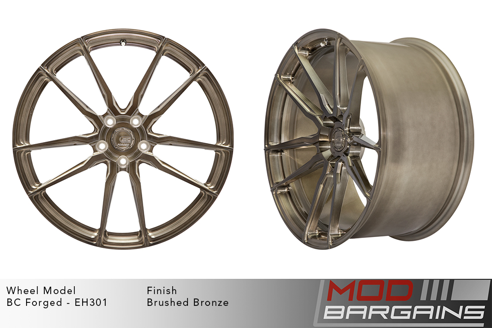 BC Forged EH301 Monoblock Forged Aluminum Split 5 Spoke Concave Wheels Brushed Bronze Modbargains