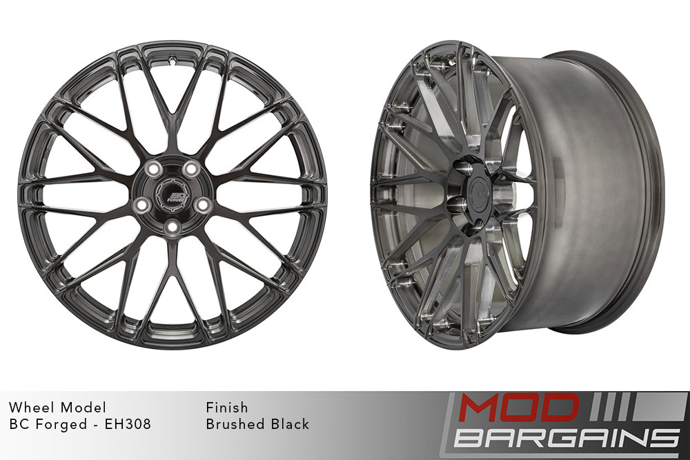 BC Forged EH308 Monoblock Forged Aluminum Mesh Concave Wheels Brushed Black Modbargains