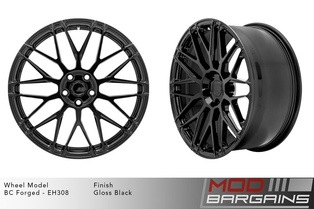 BC Forged EH308 Monoblock Forged Aluminum Mesh Concave Wheels Gloss Black Modbargains