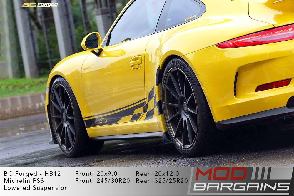 Porsche 991 911 GT3 BC Forged HB12 Wheels ModBargains